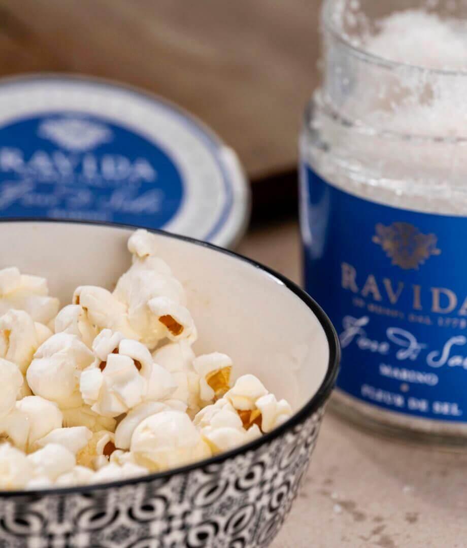 Popcorn all' Olio extra vergine di Oliva e Sale di Mare